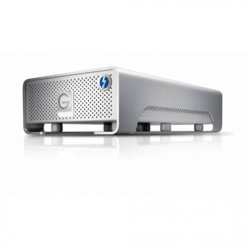 G-Technology Festplatten mit Thunderbolt Anschluss für Hochgeschwindigkeits-Übertragungsraten.
